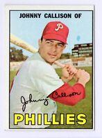 1967 Topps #85 Johnny Callison Philadelphia Phillies Baseball Card