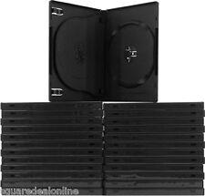 (25) DV3R14BKWT Black Triple 3 DVD 3DVD Disc Cases Boxes SLIM 14mm Hinged Tray