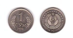 Uzbekistan - 1 Sum 1999 aUNC / UNC Lemberg-Zp