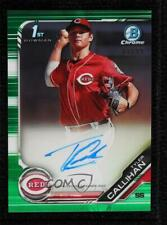 2019 Bowman Draft Chrome Pick Green Refractor 81/99 Tyler Callihan #CDA-TC Auto