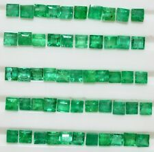 Natural Emerald Square Cut 2.30 mm Lot 15 Pcs 1.16 Cts Untreated Loose Gemstones