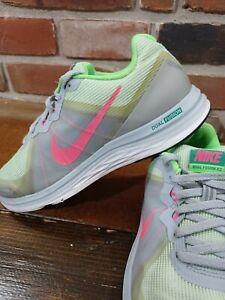Nike Dual Fusion X2 Shoes Women's Size 8 Gray/Green/Pink/White