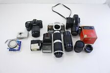 Camera and Lens Lot Vivitar 1:3.8 85-208mm Minolta 1:4 35-80mm Pentax AS-IS