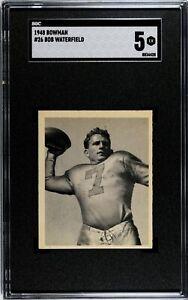 1948 Bowman #26 Bob Waterfield Rookie SGC 5 HOF