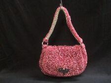Auth ANTEPRIMA Wire Bag Pink LightGray Wire Suede Shoulder Bag
