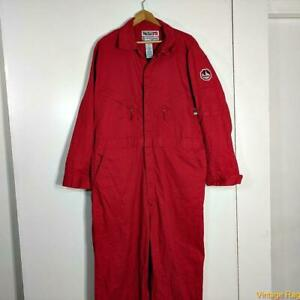 WALLS FR FLAME RESISTANT Workwear L/S Cotton Coveralls Jumpsuit 2XL 50 TALL Red