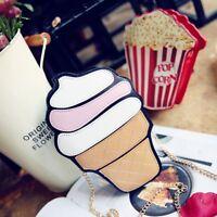 Messenger Cute Cupcake Mini Shape Hamburger Crossbody Purse Bag Handbag