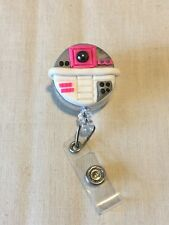 R2-KT Star Wars Inspired Retractable Reel ID Badge Holder Lanyard Clip Rn Nurse