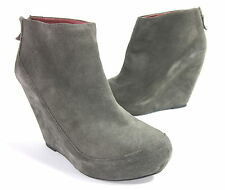 "LUXURY REBEL WOMEN'S ""KAI"" PLATFORM BOOTIE TANK SUEDE EUR 38 US SZ 8 MEDIUM (B)M"