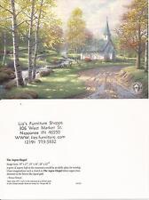 "Thomas Kinkade,""ASPEN CHAPEL"" Two (2) Postcards , NEW"
