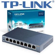 TP-LINK tl-sg108e 8x PORT DESKTOP GIGABIT SMART SWITCH 10/100/1000 rj45-METALLO
