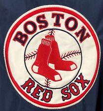 NBL BOSTON RED SOX Jacket Mens XL Windbreaker Hooded HUGE PATCH Logo  Baseball