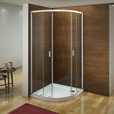 Aica 900x900mm Quadrant Shower Enclosure Cubicle Corner Screen Walk In Wet Room