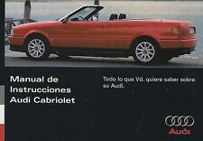 AUDI CABRIO Manual de Instrucciones 1995 Betriebsanleitung CABRIOLET BA