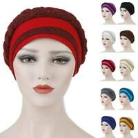 Scarf Hair Loss Hijab Head Wrap Braid Women Turban Cap Muslim Cancer Chemo Hat~