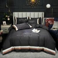Long-staple Cotton Embroidery Patchwork Bedding Sets Egyptian Duvet Cover Spread