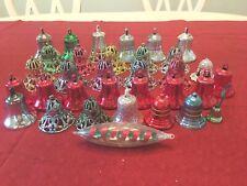 Vintage Christmas Bradford Plastic Bells + Other Bells, etc. ~ 33 Total