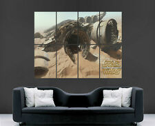 STAR WARS THE FORCE AWAKENS MILLENNIUM FALCON WALL POSTER ART  PRINT LARGE