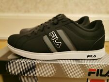 Boys Mens Fila Trainers - Grey Black White - (UK 6 / US 7 / EU 39.5)