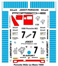 #7 Blaupunkt Porsche 1990 1/64th HO Scale Slot Car Waterslide Decals