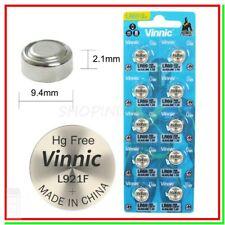 10 Batterie Pile VINNIC AG6 L921F LR921 G6 LR69 171 GP71A 371 370 SR920W SR69