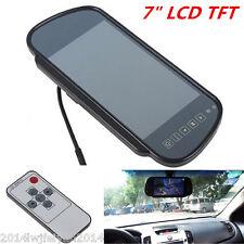 "7"" TFT LCD HD Screen Mirror Monitor For Car Reverse Rear View Backup Camera Kit"