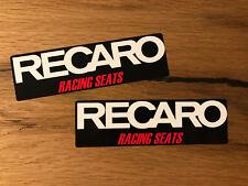 2x RECARO Aufkleber Sticker Schalensitz Sport Sitz Pole Position Rennsitze #421