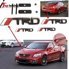 4Pcs Black Metal TRD Front Grille+Tail+ Side door/Fender Emblem Badge for Toyota