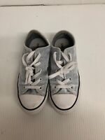 Converse all star womens size 3 shoreline silver gray cloth low top sneaker shoe