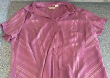 Worthington Woman Stretch Size 1X Purple Button Up Shirt