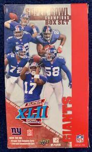 New York Giants Super Bowl XLII Champions Upper Deck Commemorative Box Set