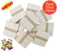 Lollipop Sticks Wooden lolly Natural Craft Crafts Lollies Ice Pops Kids Coloured