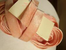 """Soft Velvet Ribbon woven edge strong pink 5/8"""" 15mm x 1m"""