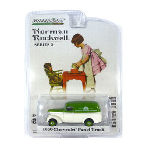 Greenlight 54040-A Chevrolet Panel Truck White/Green - Norman Rockwell 1:64 New
