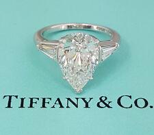 Tiffany & Co. 4.4 ct Platinum Pear Diamond Engagement Ring E/VVS1 Rtl. $275k