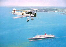Swordfish Over The QE2 Queen Elizabeth 2 Beautiful Ship Print Painting Poster