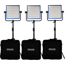 Dracast Led1000 Pro Series Daylight 3 Light Kit, Qty=3 Softboxes Barndoors Grids
