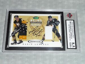 02-03 Parkhurst Retro Mario Lemieux 7/15 Magnificent Rookie Return JSY AUTO KSA