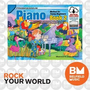 Progressive 18327 Piano Method For Young Beginners Book 2 Free Media KPYP2X