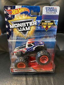 Hot Wheels Monster Jam Stars and Stripes El Toro Loco Monster Truck 1:64 New