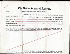 HISTORIC 1907 PINE RIDGE OGLALA (SIOUX) INDIAN LAND TRUST ~ PRES.TEDDY ROOSEVELT
