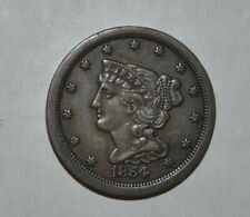 1854 1/2C Braided Hair Half Cent 6302
