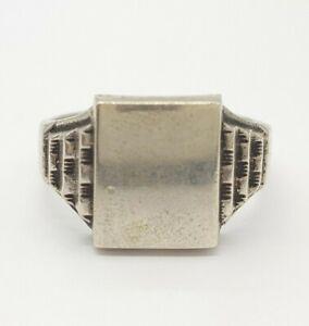 Schöner 800 Silber Ring - Siegelring - (19)