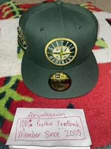 7 1/2 Hat Club Exclusive NBA Crossover Seattle Mariners 25th Patch Cool Fashion