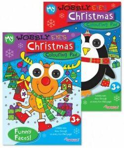 1 x CHRISTMAS COLOURING BOOK Wobbly Eyes Children's Books Kids Stocking Filler
