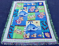 Under The Sea ~ Ocean Life for Kid's Room Tapestry Afghan Throw