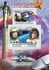 RUSSIA In Space (Astronauts/Dogs/Lunokhod Rover) Stamp Sheet (2012 Burundi)