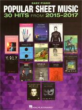 Popular Sheet Music 30 Hits 2015-2017 Songbook Noten Easy Piano Klavier leicht