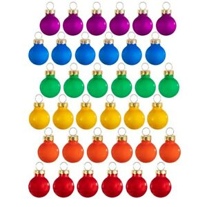Sass & Belle Rainbow Mini Bauble Hanging Decoration Christmas Tree Xmas Set 36
