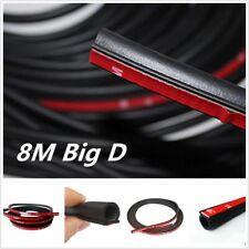 8m/26ft D-Shape Moulding Trim Rubber Strip Car Door Edge Seal Weather Strip
